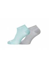 Scholl funkční ponožky Cool and Dry – 1x šedé, 1x světle zelené dámské (SH01692)