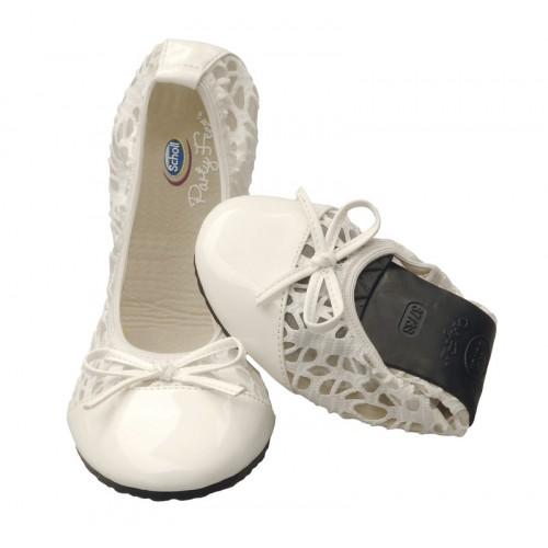 Scholl Pocket Ballerina premium - bílé baleríny