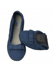 Scholl Pocket Ballerina DENIM - baleríny