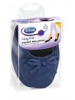 Scholl Pocket Ballerina - modré baleríny