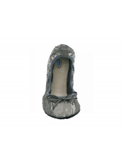 Scholl Pocket Ballerina New sequins - stříbrné baleríny