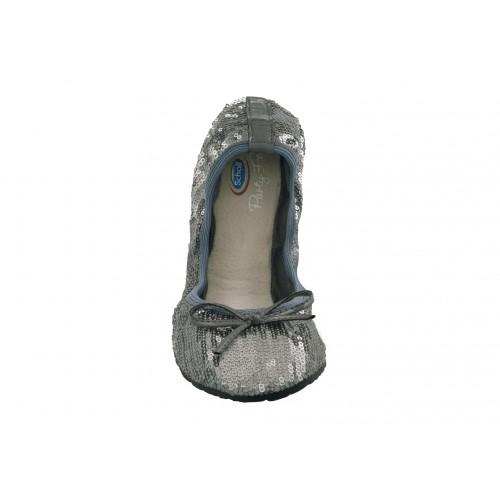 Scholl Pocket Ballerina New sequins - stříbrné baleríny EU 41-42