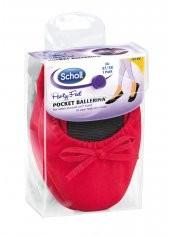 Scholl Pocket Ballerina - červené baleríny