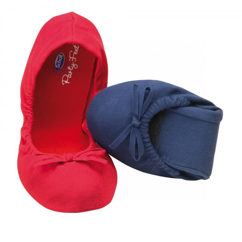 0a0e1a80a46f Scholl Pocket Ballerina - červené baleríny