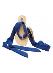 Scholl Pocket Ballerina Sandals - bílé/modré baleríny