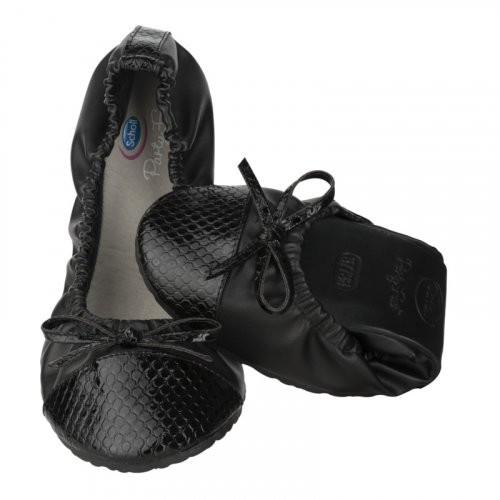 Scholl Pocket Ballerina CROCO - černé baleríny EU 41-42