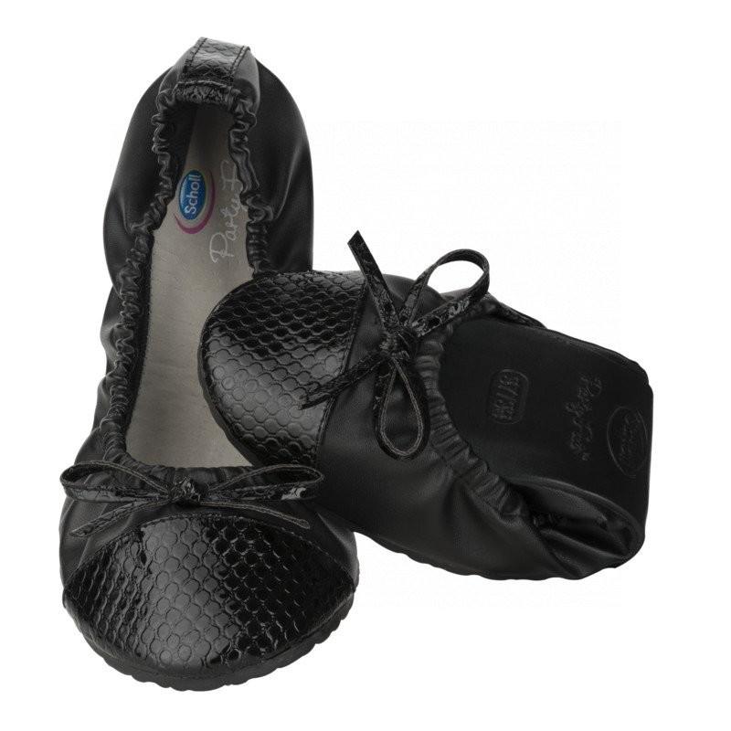 08999d563ebd Scholl Pocket Ballerina CROCO - černé baleríny