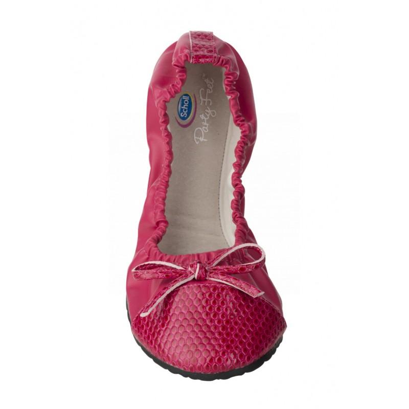 1c4f72564ea5 Scholl Pocket Ballerina CROCO - červené baleríny