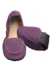 Scholl Pocket Ballerina Moccasin - fialové baleríny