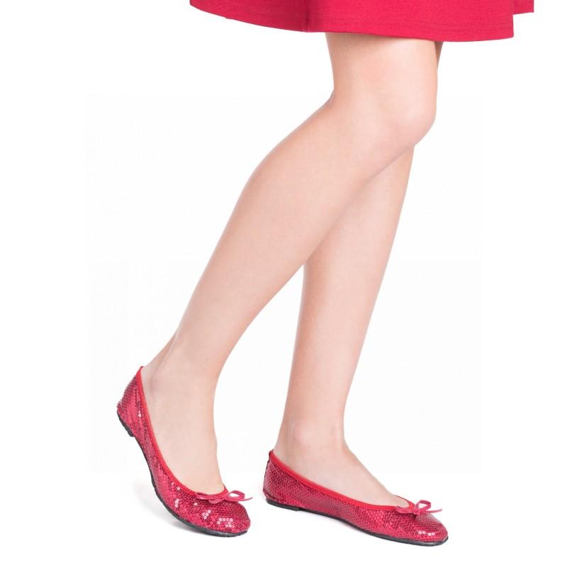 3b06d6f9e62f Scholl Pocket Ballerina PAILLETTES - červené baleríny