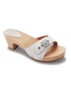 Scholl BAND TEXAS bílé pantofle