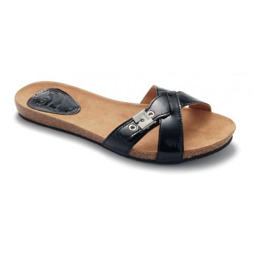 Scholl BONETE černé módní pantofle