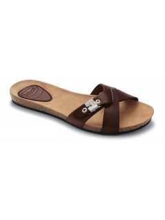 Scholl BONETE tmavě hnědé módní pantofle