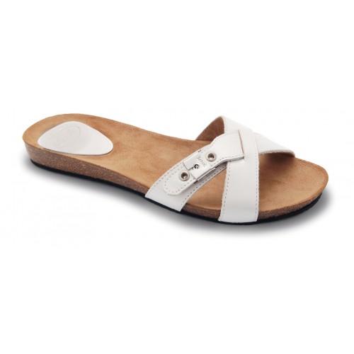 Scholl BONETE bílé módní pantofle