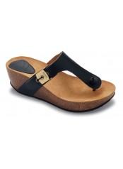 Scholl EDNA 1.2 - černé módní pantofle