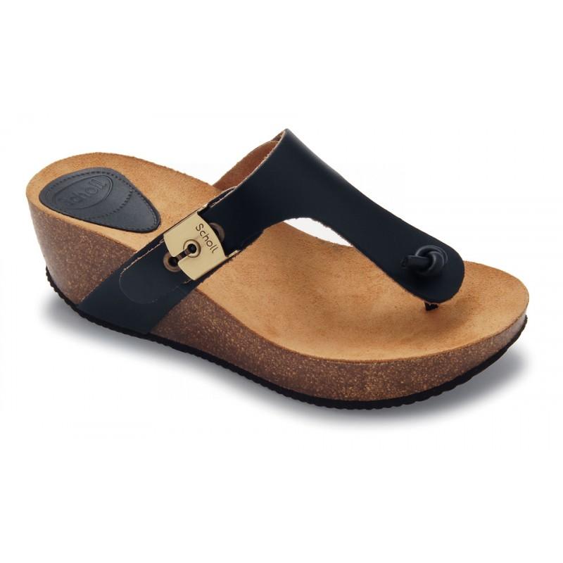 51396b0db8fa Scholl EDNA 1.2 - černé módní pantofle