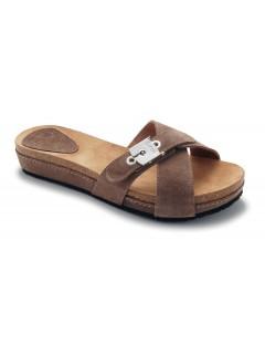 Scholl MAEST - semišové tmavě šedé módní pantofle