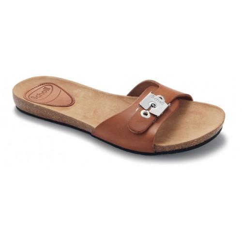 Scholl NEW BAHAMA 1.2 - hnědé pantofle EU 36