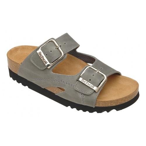Scholl MOLDAVA WEDGE AD šedé zdravotní pantofle
