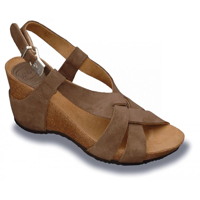 Scholl CORANTA - tmavě šedé semišové módní sandály 9a932e2d98