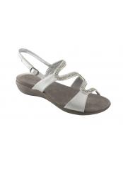 Scholl LINKOL stříbrné zdravotní sandále