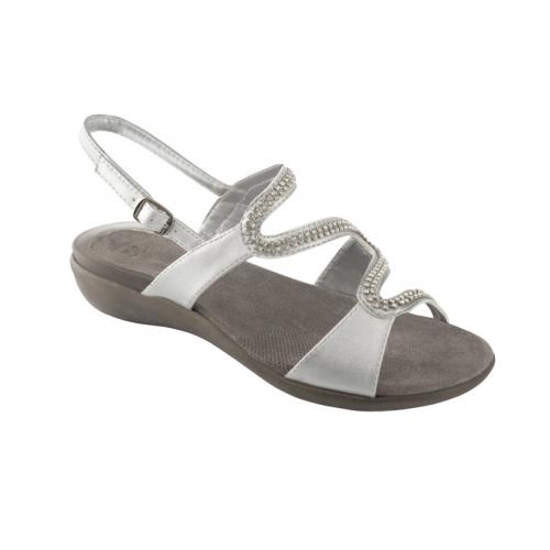 Scholl LINKOL stříbrné zdravotní sandále EU 36