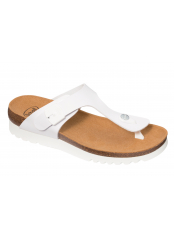 Scholl BOA VISTA UP bílé zdravotní pantofle