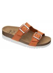 Scholl FILIPPA oranžové zdravotní pantofle