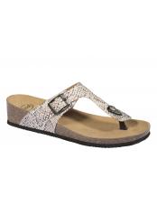 Scholl GANDIA stříbrné zdravotní pantofle (model 2020)