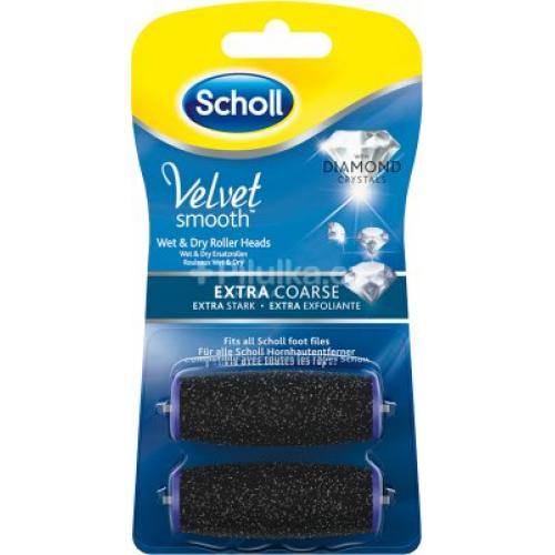 Scholl Velvet Smooth extra drsné náhradní hlavice s diamantovými krystalky