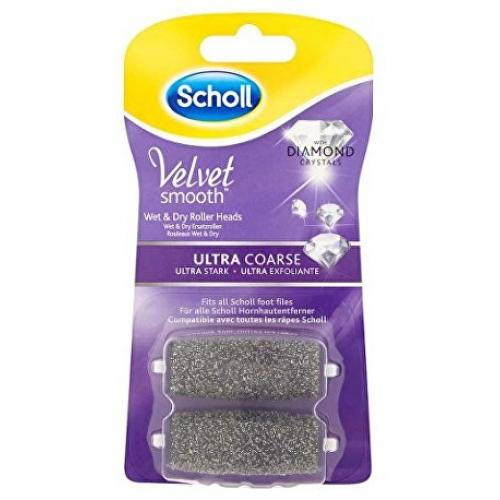 Scholl Velvet Smooth - náhradní rotační hlavice ultra drsná s mořskými minerály (2ks)