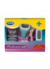 Scholl Velvet Smooth wet & dry elektrický pilník + náhradní hlavice extra drsná (dárkové balení)