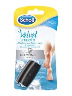 Scholl Velvet Smooth náhradní válečky (2 ks hrubý)