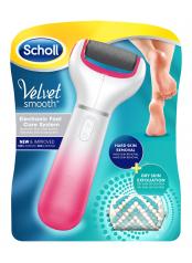 Scholl Velvet Smooth Diamond Crystals letní edice - strojek na odstranění ztvrdlé kůže z chodidla - růžový