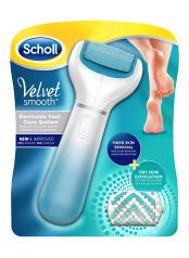 Scholl Velvet Smooth Diamond Crystals letní edice - strojek na odstranění ztvrdlé kůže z chodidla - modrý