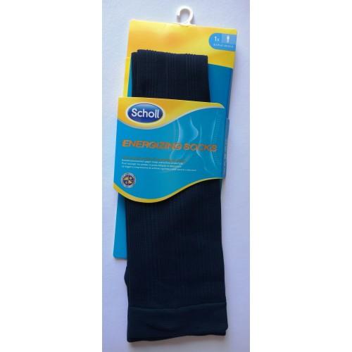 Scholl kompresní ponožky ENERGIZING – pánské modré se vzorem (SEMKS3020BI)