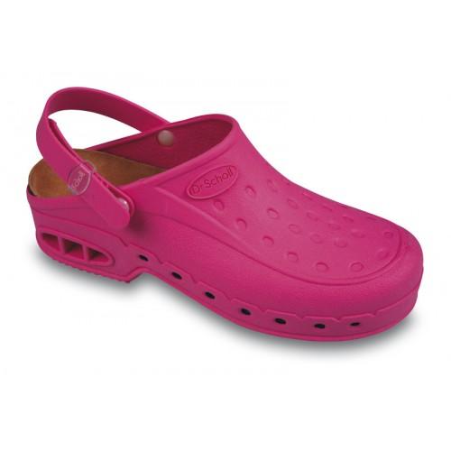 Scholl NEW WORK TIME s páskem - růžové pracovní sandále