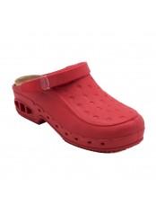 Scholl NEW WORK TIME s páskem -  červené pracovní sandále