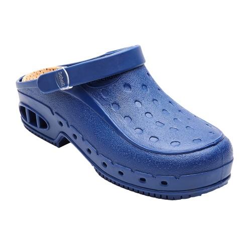 Scholl NEW WORK TIME s páskem - modré pracovní sandále