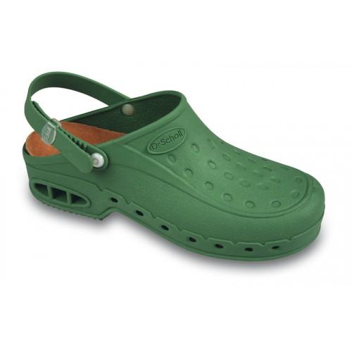 Scholl NEW WORK TIME s páskem - zelená pracovní sandále