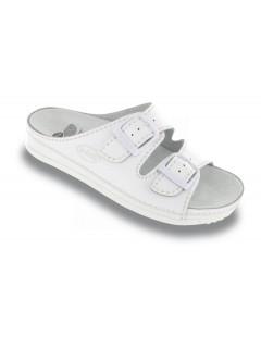 Scholl AIR BAG - bílé zdravotní pantofle