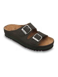 Scholl AIR BAG - černé zdravotní pantofle
