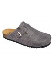 Scholl AMIATA MAN šedá domácí zdravotní obuv