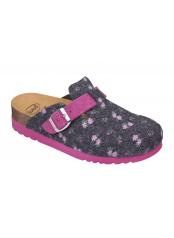Scholl AMIATA 2.0 šedá / růžová domácí obuv