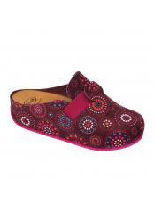 Scholl LARETH fialová domácí obuv