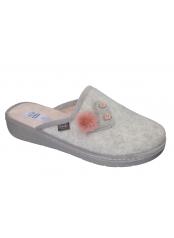 Scholl LAUREN HEART světle šedá domácí zdravotní obuv