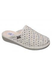 Scholl LAUREN světle šedá domácí zdravotní obuv