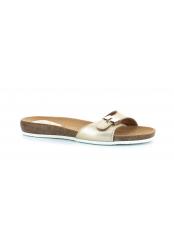 Scholl BAHAMAIS - zlaté zdravotní pantofle