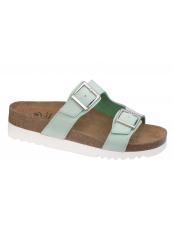 Scholl FILIPPA zelené zdravotní pantofle