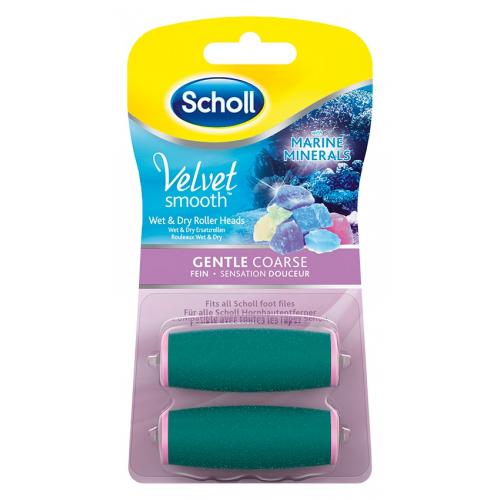 Scholl Velvet Smooth - náhradní hlavice jemně drsná s mořskými minerály (2ks)